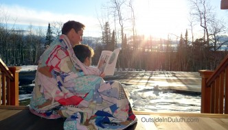 Reading Outside in the Spring(ish)time