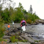 Volunteering for Lake Clean Up in Duluth, MN