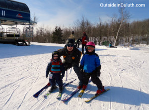 Skiing in Duluth with Kids