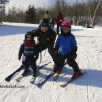 Kids Learning to Ski in Duluth, MN