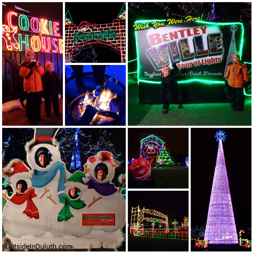 Bentleyville Holiday Tour of LIghts with kids in Duluth, MN