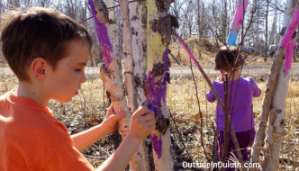 Tree Art:  A Burst of Color in the Spring