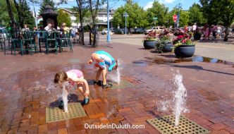 Urban Summer Fun:  Canal Park Ground Fountains