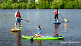 Stand Up Paddleboarding with Kids in Duluth