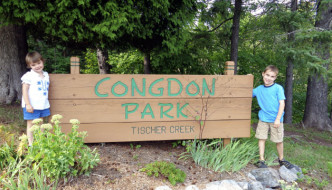 Hiking at Congdon Park
