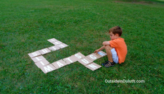Lawn Scrabble at Leif Erikson Park