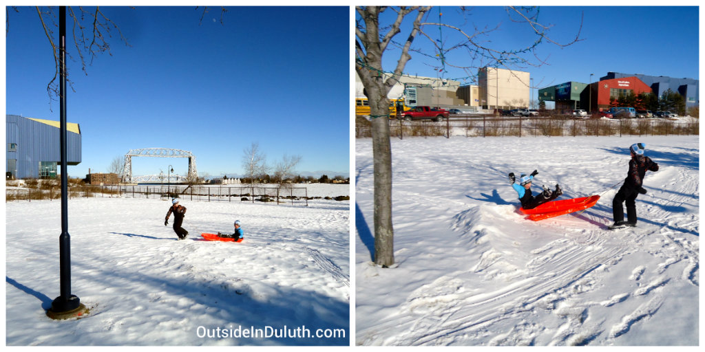 Sled Fun at Bayfront