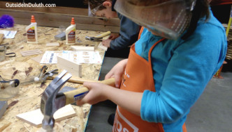 Building Butterfly Houses at a Home Depot Kids Workshop