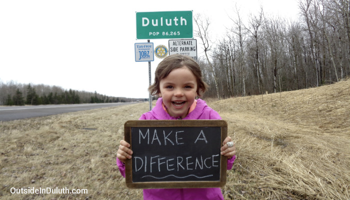 Volunteering in Duluth with Kids