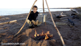 Enjoy a Beach Fire at Wisconsin Point
